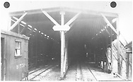 Looking into south end of RGS Lizard Head snowshed.  Outfit box car #01770 is on the siding.<br /> RGS  Lizard Head Pass, CO  Taken by Rice, Frank - 1951<br /> Also at RD137-097.  RD137-091 may be a companion photo.