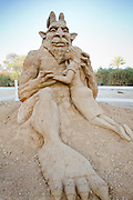 Beauty and the Beast Sand Sculpture
