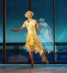 The Great Gatsby <br /> by David Nixon <br /> The Northern Ballet <br /> at Sadler's Wells, London, Great Britain <br /> 14th May 2013 <br /> rehearsal <br /> <br /> Tobias Batley as Jay Gatsby <br /> <br /> Martha Leebolt as Daisy Buchanan<br /> <br /> <br /> Photograph by Elliott Franks
