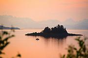 Alaska. Auke Bay. Typical coastal scenery.