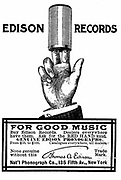 Advertisement for Edison Phonograph cylinder recordings. From 'Scientific American' New York 1900