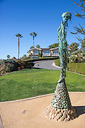 Voyager Bronze Sculpture of a Woman at Treasure Island Park in Laguna Beach California