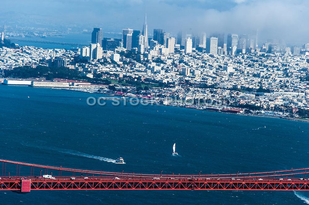 San Francisco City and the Golden Gate Bridge