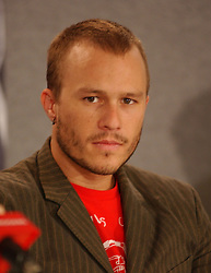September 10, 2005 - Toronto, ON, U.S. - 10 September 2005 - Toronto, Canada - Heath Ledger. The ''Brokeback Mountain'' press conference, part of the Toronto Film Festival, held at Sutton Place Hall..Photo Credit: George Shepherd/Admedia (Credit Image: © George Shepherd/AdMedia via ZUMA Wire)