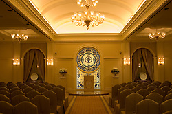 Nevada, NV, Las Vegas, city, wedding chapel, Tuscano, Caesars Palace Hotel and Casino, altar, stained glass, Photo nv272-17860. .Copyright: Lee Foster, www.fostertravel.com, 510-549-2202,lee@fostertravel.com