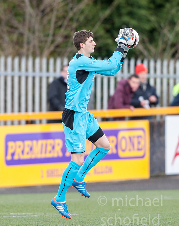 Falkirk's keeper Graham Bowman .<br /> Alloa Athletic 3 v 0 Falkirk, Scottish Championship game played today at Alloa Athletic's home ground, Recreation Park.<br /> © Michael Schofield.