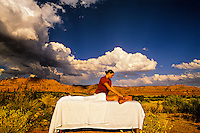 Massage in the desert, Red Mountain Spa, Ivins (near St. George), Utah USA