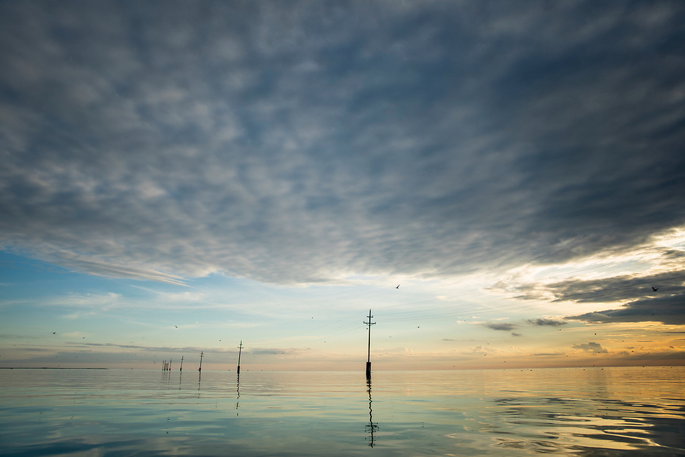 Chesapeake Bay kayak paddling.<br /> Tangier & Smith Island