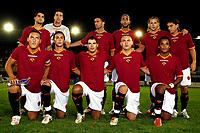 Fotball<br /> Italia<br /> Foto: Inside/Digitalsport<br /> NORWAY ONLY<br /> <br /> Rieti 19/8/2006 <br /> Amichevole Roma Real Zaragozza 0-0<br /> <br /> As Roma team<br /> UP Christian Chivu, Cristiano Doni. Christian Panucci, Hassan Mido, Philippe Mexes, Leandro Cufre<br /> Bottom Francesco Totti, Alberto Aquilani, Simone Perrotta, Daniele De Rossi, Amantino Mancini<br /> Lagbilde Roma