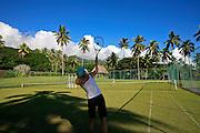 Grass tennis court, Taveuni Estates, Taveuni, Fiji