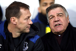 Everton manager Sam Allardyce with Duncan Ferguson (left) during the Premier League match at The Hawthorns, West Bromwich.