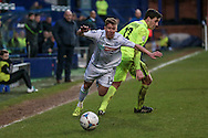 Jack Mackreth (Tranmere Rovers) brought down by Adam Blakeman (Southport) for a free kick during the Vanarama National League match between Tranmere Rovers and Southport at Prenton Park, Birkenhead, England on 6 February 2016. Photo by Mark P Doherty.