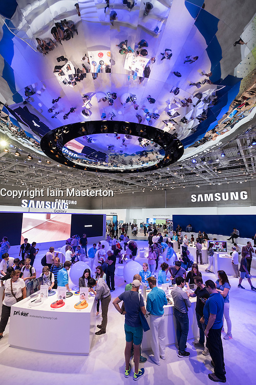 Busy Samsung stand at 2016  IFA (Internationale Funkausstellung Berlin), Berlin, Germany