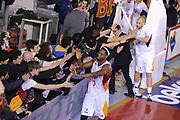 DESCRIZIONE : Roma Lega A 2014-15 Acea Roma Grissin Bon Reggio Emilia<br /> GIOCATORE : Melvin Ejim<br /> CATEGORIA : postgame esultanza<br /> SQUADRA : Acea Roma<br /> EVENTO : Campionato Lega A 2014-2015<br /> GARA : Acea Roma Grissin Bon Reggio Emilia<br /> DATA : 16/03/2015<br /> SPORT : Pallacanestro <br /> AUTORE : Agenzia Ciamillo-Castoria/G.Masi<br /> Galleria : Lega Basket A 2014-2015<br /> Fotonotizia : Roma Lega A 2014-15 Acea Roma Grissin Bon Reggio Emilia