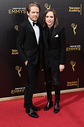 .Ellen Page, Ian Daniels  attend  2016 Creative Arts Emmy Awards - Day 2 at  Microsoft Theater on September 11th, 2016  in Los Angeles, California.Photo:Tony Lowe/Globephotos