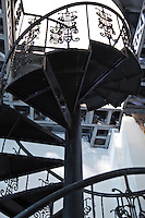 """Circular stairway at Vigan Cathedral, also known as St Paul's Cathedral - an """"earthquake baroque"""" church built in 1574.  Commissioned by Spaniard Juan de Salcedo but was unfortunately destroyed by an earthquake. The current church was constructed in 1790 and was finished in 1800.  Cathedral features Neo-Gothic and pseudo Romanesque motifs. The baroque styled church has thick buttresses to support it through both earthquakes and typhoons"""