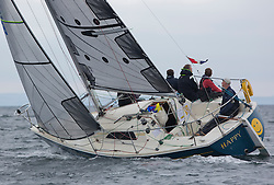 Day one of the Silvers Marine Scottish Series 2016, the largest sailing event in Scotland organised by the  Clyde Cruising Club<br /> Racing on Loch Fyne from 27th-30th May 2016<br /> <br /> GBR9518, Happy, Ian Macdonald, CCC, Impala<br /> <br /> Credit : Marc Turner / CCC<br /> For further information contact<br /> Iain Hurrel<br /> Mobile : 07766 116451<br /> Email : info@marine.blast.com<br /> <br /> For a full list of Silvers Marine Scottish Series sponsors visit http://www.clyde.org/scottish-series/sponsors/