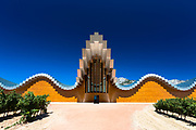 Ysios Bodega winery futuristic architecture at Laguardia in Rioja-Alavesa wine producing Basque country area, Spain