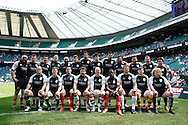 Picture by Andrew Tobin/Tobinators Ltd +44 7710 761829.26/05/2013.The Barbarians team lineup before the match between England and the Barbarians at Twickenham Stadium, Twickenham.