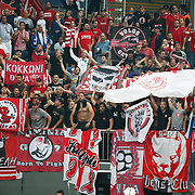CSKA Moscow's Supporters fans during their Euroleague Final Four semifinal Game 1 basketball match CSKA Moscow's between Panathinaikos at the Sinan Erdem Arena in Istanbul at Turkey on Friday, May, 11, 2012. Photo by TURKPIX