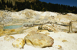 California: Lassen National Park.  Bumpass Hell thermal area..Photo copyright Lee Foster, 510/549-2202, lee@fostertravel.com, www.fostertravel.com..Photo #: calass104
