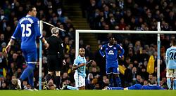 Fabian Delph of Manchester City reacts after fouling Everton's Ross Barkley - Mandatory byline: Matt McNulty/JMP - 27/01/2016 - FOOTBALL - Etihad Stadium - Manchester, England - Manchester City v Everton - Capital One Cup Semi-final