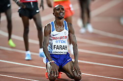 Mo Farah of Great Britain looks on after finishing in first place - Mandatory byline: Patrick Khachfe/JMP - 07966 386802 - 04/08/2017 - ATHLETICS - London Stadium - London, England - Men's 10,000m Final - IAAF World Championships