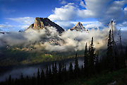 Early morning clouds in Glacier National Park, Montana.