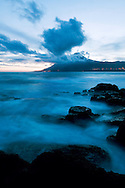 Pico vulcano at sunset, Pico, Azores, Portugal