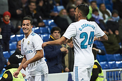 January 10, 2018 - Madrid, Madrid, Spain - Lucas Vazquez (midfielder; Real Madrid), Dani Ceballos (midfielder; Real Madrid) during Copa del Rey match between Real Madrid and Numancia, Round 8 match, at Santiago Bernabeu on January 10, 2018 in Madrid (Credit Image: © Jack Abuin via ZUMA Wire)