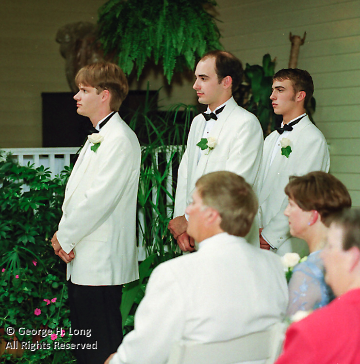 The wedding of Kristin Smith and Ben Crowe on June 12, 1999