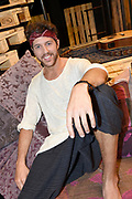 Open repetitie HAIR in de studio van Stage Entertainment.<br /> <br /> op de foto:  William Spaaij