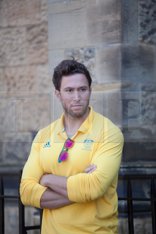 © London News Pictures. 23/07/2012. Tonbridge, Kent. Benn Harradine - Discus Thrower. Photocall for the Australian Olympic Athetics team who are based at Tonbridge School in Kent.