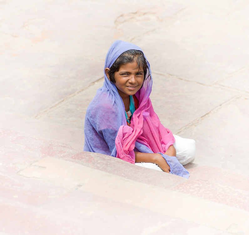 On the steps of the Jama Masjid, Delhi, India