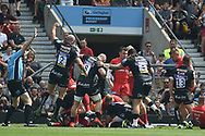 Exeter Chiefs scrum-half Nic White (9) scores a try (1st) during the Gallagher Premiership Rugby Final match between Exeter Chiefs and Saracens at Twickenham, Richmond, United Kingdom on 1 June 2019.