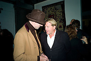 RICHARD STRANGE; JULIAN OZANNE, demons, yarns and tales. Tapestries by Contemporary Artists. Exhibition curated by Banners of Persuasion. The Dairy, Wakefield st. WC1. 11 November 2008.  *** Local Caption *** -DO NOT ARCHIVE -Copyright Photograph by Dafydd Jones. 248 Clapham Rd. London SW9 0PZ. Tel 0207 820 0771. www.dafjones.com