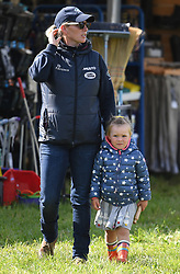 Members of The Royal Family attend the Whatley Manor Horse Trials at Gatcombe Park, Minchinhampton, Gloucestershire, UK, on the 8th September 2017. 08 Sep 2017 Pictured: Zara Tindall, Mia Tindall. Photo credit: James Whatling / MEGA TheMegaAgency.com +1 888 505 6342