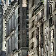"""The """"urban canyon"""" feeling is brought about by having a consistent streetwall of tall buildings."""