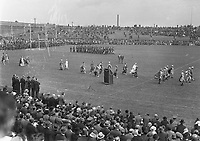 H2485<br /> Opening of Tailteann Games. Picture of various teams parading. 1932 (Part of the Independent Newspapers Ireland/NLI Collection)