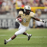 UCF Knights wide receiver Rannell Hall (6) runs during an NCAA football game between the South Carolina Gamecocks and the Central Florida Knights at Bright House Networks Stadium on Saturday, September 28, 2013 in Orlando, Florida. (AP Photo/Alex Menendez)