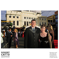 Richard Taylor and Tania Rodger walk the red carpet at the premiere of Peter Jackson's King Kong, at Wellington's Embassy Theatre.