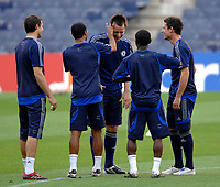 Photo: Richard Lane.<br />Chelsea training session. UEFA Champions League. 30/10/2006. <br />Chelsea captain John Terry has his ears flicked by team mates during a training ground game.