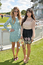 Left to right, WHINNIE WILLIAMS and ZARA MARTIN at the Investec Derby 2015 at Epsom Racecourse, Epsom, Surrey on 6th June 2015.