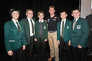British Astronaut Tim Peake pictured with school children during the UK Space Agency Schools Conference hosted by the University of Portsmouth at the Guildhall in the city.<br /> The conference celebrated the work of over a million UK school students inspired by Peake's Principia mission, which saw the flight dynamics and evaluation graduate spend more than six months on board the International Space Station.<br /> Youngsters had the chance to present their work through talks and exhibitions to experts from the UK Space Agency, European Space Agency (ESA), partner organisations and the space sector. Most also had the chance to meet Tim.<br /> Picture date Wednesday 2nd November, 2016.<br /> Picture by Christopher Ison for the University of Portsmouth.<br /> Contact +447544 044177 <br /> chris@christopherison.com<br /> www.christopherison.com