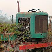 Abandoned Roadside Tractor - Carmel, CA
