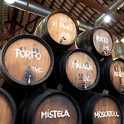 Wine from the wood barrels, Alella, Spain