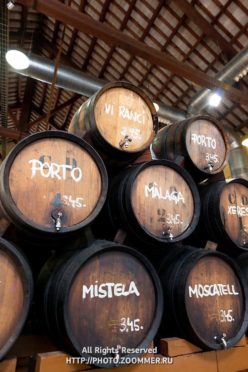 Wine from the wood barrels, Alella, Spain