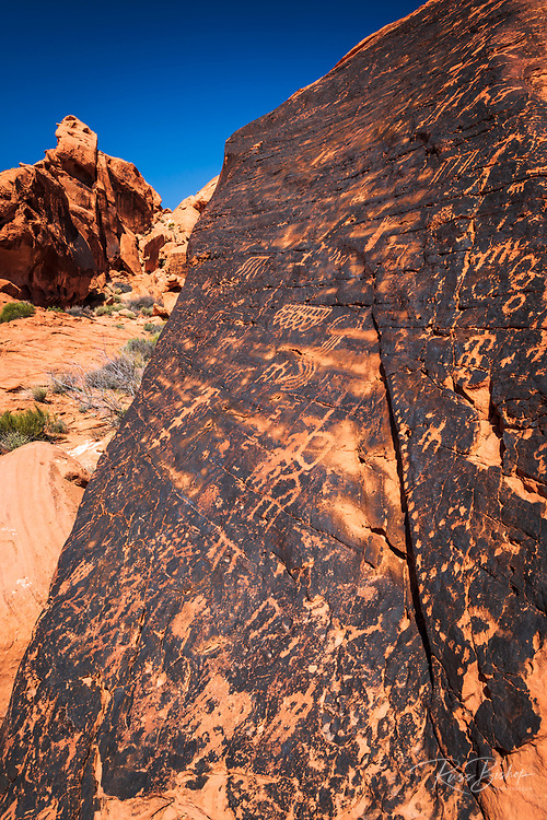 Petroglyphs at the Mouse's Tank, Valley of Fire State Park, Nevada USA