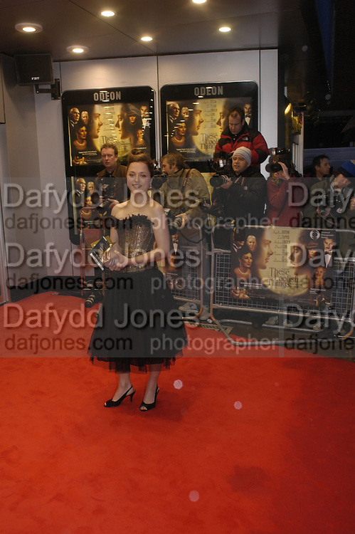 Zoe Tapper, Royal Charity premiere of 'These Foolish things' in aid of the National Osteoporosis Society. Kensington Odeon and afterwards at Claridges. 8 March 2006. ONE TIME USE ONLY - DO NOT ARCHIVE  © Copyright Photograph by Dafydd Jones 66 Stockwell Park Rd. London SW9 0DA Tel 020 7733 0108 www.dafjones.com