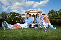 20 May 2009: North Carolina Tar Heels midfielder Ben Hunt (18) and midfielder Chris Hunt (5) during a portrait session at Morehead Planetarium on the campus of the University of North Carolina in Chapel Hill, NC.